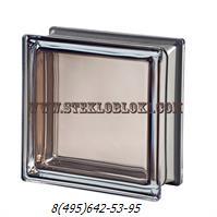 Стеклоблок Vetroarredo металлизированный mendini agata q19
