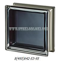 Стеклоблок Vetroarredo металлизированный mendini black 30% q19