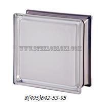Стеклоблок Vetroarredo металлизированный mendini white 100% q19
