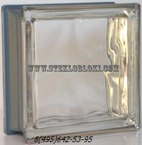 Стеклоблок Vetroarredo металлизированный волна бесцветный neutro q19/0