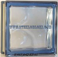 Стеклоблок Vetroarredo металлизированный волна окрашенный в массе blu q19/0
