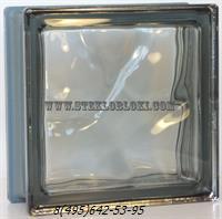 Стеклоблок Vetroarredo металлизированный волна окрашенный в массе nordika q19/0