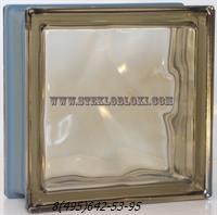 Стеклоблок Vetroarredo металлизированный волна окрашенный в массе siena q19/0