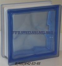 Стеклоблок Vetroarredo волна окрашенный в массе blu q19/0