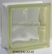 Стеклоблок Vetroarredo волна окрашенный в массе giallo q19/0