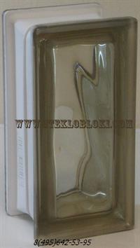 Стеклоблок Vetroarredo волна окрашенный в массе половинка siena q19/0