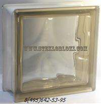 Стеклоблок Vetroarredo волна окрашенный в массе siena q19/0