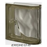 Стеклоблок Vetroarredo волна окрашенный в массе торцевой siena q19/0