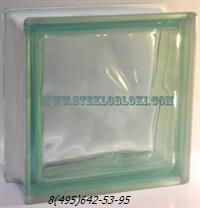 Стеклоблок Vetroarredo волна окрашенный в массе verde q19/0
