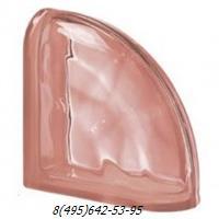 Стеклоблок Vetroarredo волна окрашенный в массе завершающий rosa q19/0