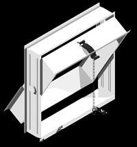 Открывающая рама на 4 стеклоблока