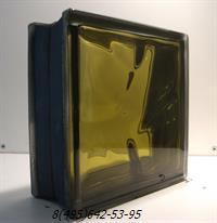 Стеклоблок Vitrablok окрашенный внутри черный бриллиант бронза