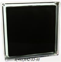 Стеклоблок Vitrablok окрашенный внутри волна яркий черный глянец