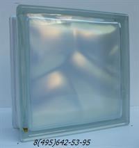 Стеклоблок Vitrablok окрашенный внутри флуоресцентный жемчуг