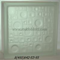Стеклоблок Vitrablok губка бесцветный полуматовый