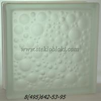 Стеклоблок Vitrablok капля бесцветный полуматовый