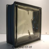 Стеклоблок Vitrablok окрашенный внутри черный бриллиант коричневый
