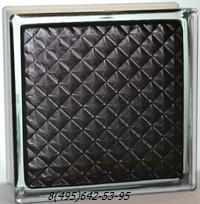 Стеклоблок Vitrablok окрашенный внутри инка черный