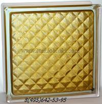 Стеклоблок Vitrablok окрашенный внутри инка коричневый
