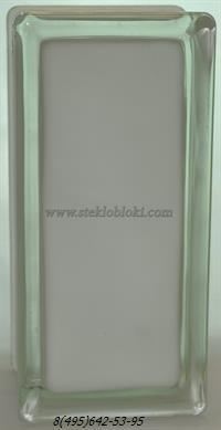 Стеклоблок Vitrablok окрашенный внутри половинка волна молочный