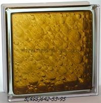 Стеклоблок Vitrablok окрашенный внутри савона бронзовый