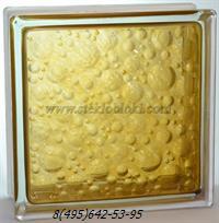 Стеклоблок Vitrablok окрашенный внутри савона коричневый