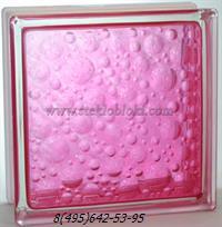 Стеклоблок Vitrablok окрашенный внутри савона розовый