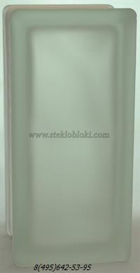 Стеклоблок Vitrablok половинка волна бесцветный матовый