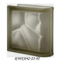 Стеклоблок Vetroarredo волна окрашенный в массе торцевой siena q19/0 sat матовый с одной или с двух сторон