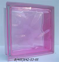 Стеклоблок Vitrablok окрашенный внутри флуоресцентный фламинго