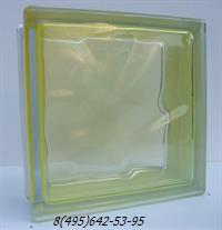 Стеклоблок Vitrablok окрашенный внутри флуоресцентный дюшес