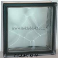 Стеклоблок Vitrablok окрашенный в массе волна графит