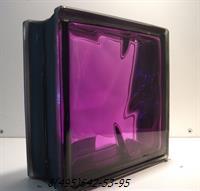 Стеклоблок Vitrablok окрашенный внутри черный бриллиант аметист