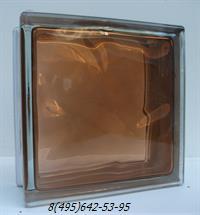 Стеклоблок Vitrablok окрашенный внутри топаз
